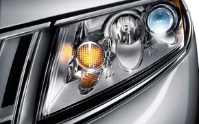 Wallpaper headlight, White