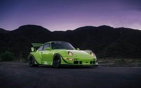 Picture Porsche, Classic, Black, with, 300, 993, RWB, Satin, HRE