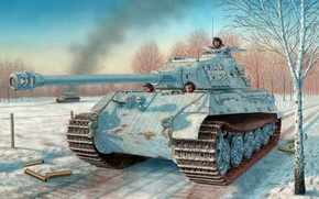 Picture figure, the second world, the Germans, the Wehrmacht, heavy tank, Tiger II, Sd. Car. 182, …