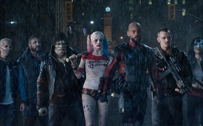 Picture Will Smith, DC Comics, Deadshot, Harley Quinn, Captain, Jai Courtney, Killer, Rick, Cara Delevingne, Joel ...