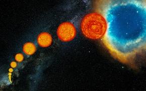Picture nebula, star, The sun, planetary