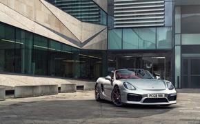 Picture lights, the evening, Porsche, lane, Boxster, Spyder