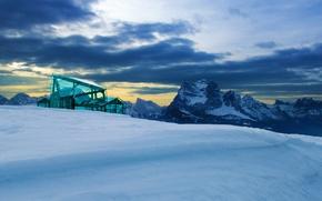 Picture snow, mountains, Italy, Museum, Messner Mountain Museum, Monte Rita, Belluno