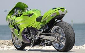 Wallpaper bike, ZX14, green