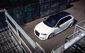 Picture Audi, Audi, white, white, stance