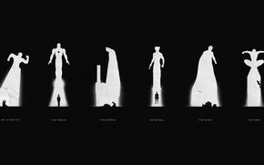 Picture Batman, Superman, Wolverine, Iron man, Batman, Iron Man, spider-man, Man of Steel, Spiderman, Flash, Wolverin