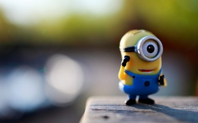 Wallpaper macro, eyes, despicable me, figure, minion