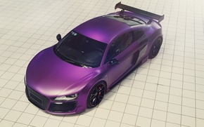 Picture Audi, Purple, Tuning, V10, Supercar, Ligth, REGULA