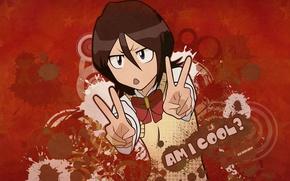Wallpaper bleach, bleach, kuchiki rukia, am i cool?, Rukia kuchiki