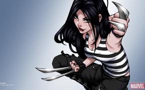 Picture girl, x-men, X-Men, art, Marvel, comic, vest, comics, X-23