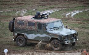 Picture machine gun, car, INTERPOLITEX 2012, Scorpio-2M