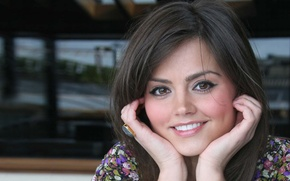 Picture girl, face, smile, sweetheart, actress, beauty, Jenna-Louise Coleman, Jenna-Louise Coleman