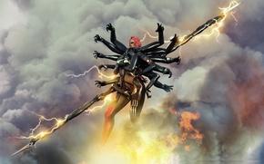 Picture woman, hands, costume, spear, Metal Gear Rising, Revengeance, Cyborg Ninja, Desperado Enforcement Group, Mystral, The …