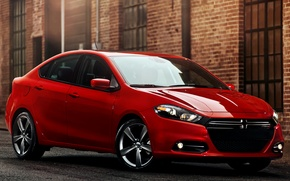 Picture red, Dodge, car, R/T, Dart