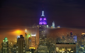 Picture night, the city, New York, New York City
