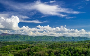 Picture summer, the sky, clouds, landscape, panorama