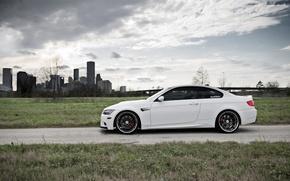 Picture BMW, White, BMW, Drives, White, E92, Strasse Wheels