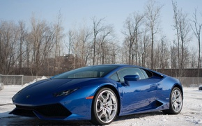 Picture Lamborghini, Blue, Huracan
