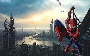 Picture city, spider man, building