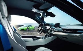 Picture Lamborghini, BMW, Green, Supercars, Huracan, Salon