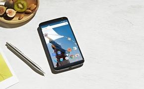Wallpaper by Google, Nexus 6, Smartphone, Lollipop, 5.0, Motorola, 2014, Pen, Android