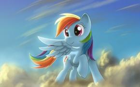 Picture pony, obloka, Rainbow Dash, My little pony