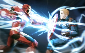 Picture Iron Man, Captain America, Chris Evans, Tony Stark, Steve Rogers, Robert Downey, Captain America: Civil …