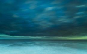 Picture sea, clouds, storm, horizon