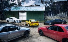Picture Nissan, R34, GT-R V.spec N1, GTt, Mazda, RX-7, Mazda, GT-R V.spec II