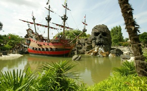 Picture Park, people, ship, skull