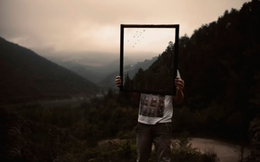 Picture nature, mirror, guy