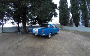 Picture Volga, White stripes, GAZ 24-10