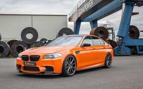 Wallpaper car, auto, BMW, BMW, tuning, the front, orange, 3D Design