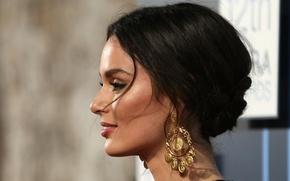 Picture eyes, look, girl, model, lips, girl, sexy, beauty, Nicole, eyes, model, pretty, face, earrings, Trunfio