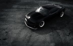 Picture Chevrolet, Muscle, Camaro, Car, Front, Black, Matte, Stance, ZL1, Top