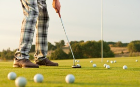 Picture golf, golf clubs, golfers