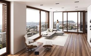 Picture Villa, Windows, interior, living room