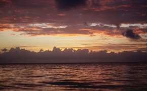 Picture sea, clouds, the ocean, dawn, the Atlantic ocean, Dominican Republic, Dominican Republic