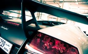 Picture white, Lamborghini, white, spoiler, carbon, Lamborghini, Murcielago, LP670-4, Lamborghini, wing, tail light, murciélago