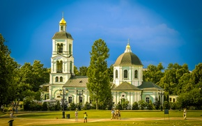Picture summer, Park, Church, Tsaritsyno