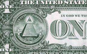 Picture money, the bucks, 1 dollar