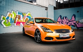 Picture Orange, Graffiti, Infiniti, Orange, Sedan, G37