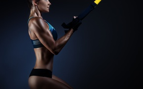 Wallpaper model, workout, fitness