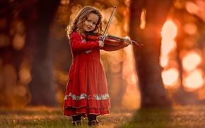Picture music, violin, girl