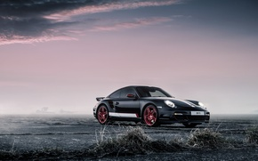 Picture 911, Porsche, Red, Black, Turbo, Wheels