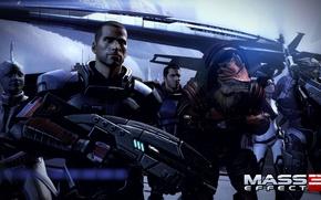 "Picture Shepard, Mass Effect 3, Normandy, Garrus Vakarian, Urdnot Rex, Miranda Lawson, DLC ""Citadel"", Cayden, Alenko, …"