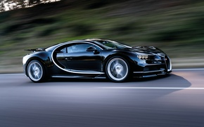 Wallpaper Chiron, speed, 2016, movement, Bugatti, track