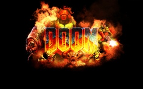 Picture demon, fire, monster, spectre, hell, doom, id software, lost soul, idkfa, baron of hell, cyber …