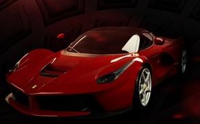 Picture Red, Machine, Ferrari, Ferrari, Car, Supercar, LaFerrari, The laferrari