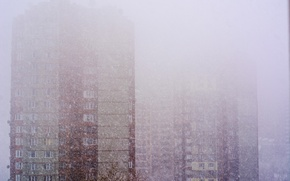 Picture winter, the sky, landscape, mood, in the snow, home, snowfall, February, Kiev, flats, Pechersk, 11.02